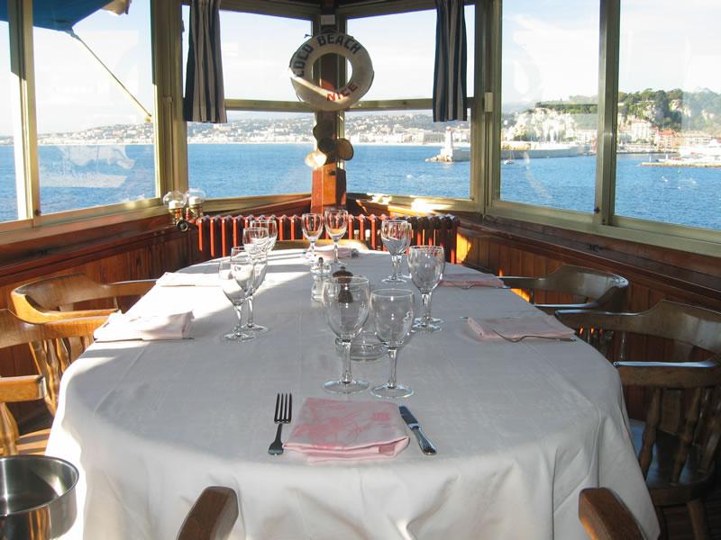 Un restaurant d'exception à Nice (vue mer)